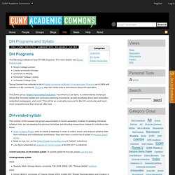 DH Syllabi - CUNY Academic Commons