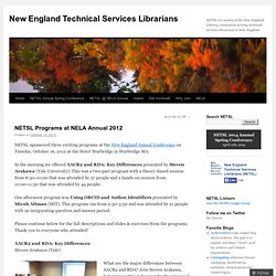 New England Technical Services Librarians (NETSL)