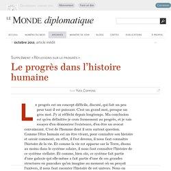 Le progrès dans l'histoire humaine, par Yves Coppens (Le Monde diplomatique, octobre 2015)