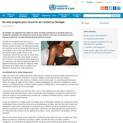 De nets progrès pour la survie de l'enfant au Sénégal