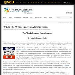 WPA: The Works Progress Administration - Social Welfare History Project