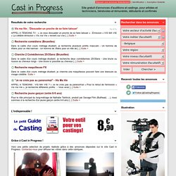 Cast in Progress - Annonces, Belgique