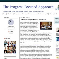 Autonomy-support in the classroom