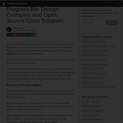 Progress Bar Design: Examples and Open Source Code Snippets