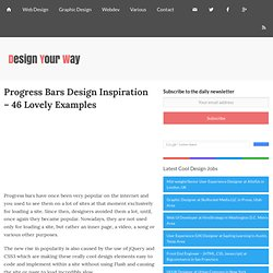 Progress Bars Design Inspiration - 46 Lovely Examples