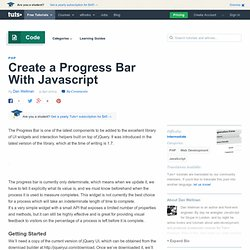 Create a Progress Bar With Javascript - Nettuts+