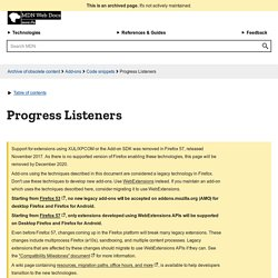 Progress Listeners - MDC