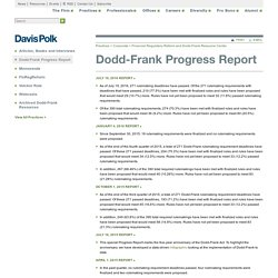 Dodd-Frank Progress Report