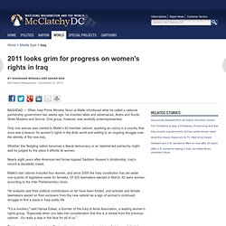 2011 looks grim for progress on women's rights in Iraq
