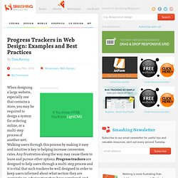 Progress Trackers in Web Design: Examples and Best Practices - Smashing Magazine