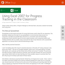Using Excel 2007 for Progress Tracking in the Classroom