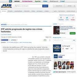 STF admite progressão de regime nos crimes hediondos