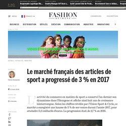 Le marché français des articles de sport a progressé de 3 % en 2017 - Actualité : industrie (#960171)