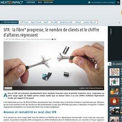 SFR : la fibre* progresse, le nombre de clients et le chiffre d'affaires régressent
