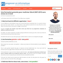Formation Word 2007-2010