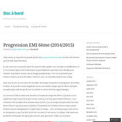 Progression EMI 6ème (2014/2015)
