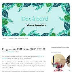 Progression EMI 6ème (2015 / 2016)