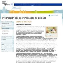 Progression des apprentissages au primaire