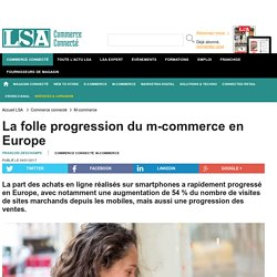 La folle progression du m-commerce en Europe