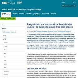 Progression sur le marché de l'emploi des jeunes : la Suisse toujours très bien placée – KOF Centre de recherches conjoncturelles