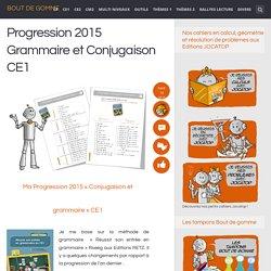 Progression Grammaire et Conjugaison CE1
