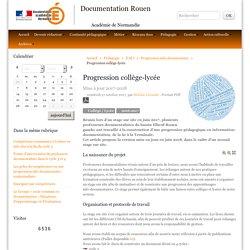 Progression collège-lycée