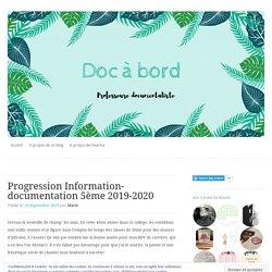 Progression Information-documentation 5ème 2019-2020
