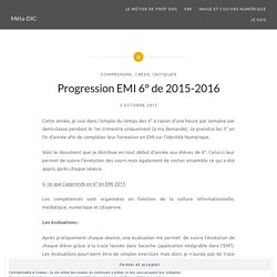 Progression EMI 6° de 2015-2016