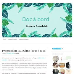 Progression EMI 6ème (2015 / 2016)