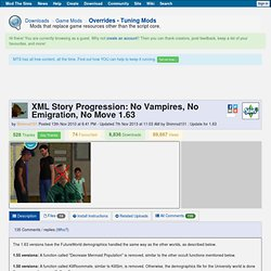 XML Story Progression: No Vampires, No Emigration, No Move 1.63