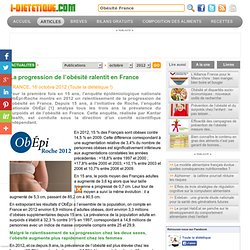 La progression de l'obésité ralentit en France