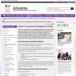 Progression pédagogique au collège - EduSCOL