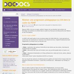 Réaliser une progression pédagogique au CDI dans le cadre du PDMF