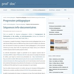 Progression pédagogique - prof' doc'