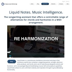 Liquid Notes - Advanced Harmony Analysis, Chord Progression Management and Live Performance