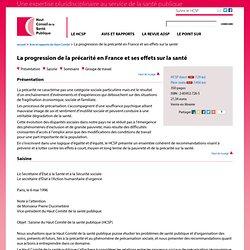 La progression de la précarité en France et ses effets sur la santé