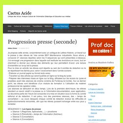Progression presse (seconde)