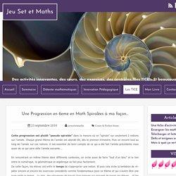 Une Progression en 6eme en Math Spiralées à ma façon...