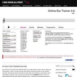 Online Ear Training with Intervals, Melodies, and Jazz Chord Progressions