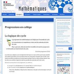 Progressions en collège - Mathématiques - Académie de Bordeaux