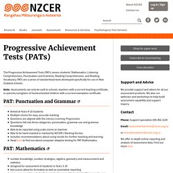 Progressive Achievement Tests (PATs)