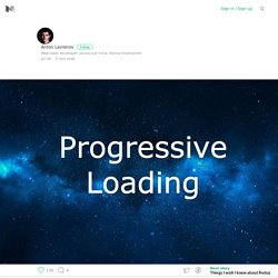 Progressive loading for modern web applications via code splitting