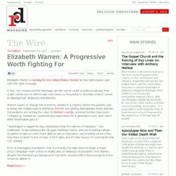 Elizabeth Warren: A Progressive Worth Fighting For | From the Wire