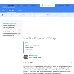 Your First Progressive Web App