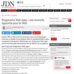 Progressive Web Apps : une nouvelle approche pour le Web