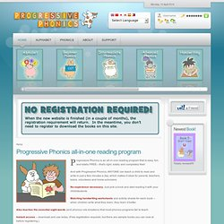 Progressive Phonics homepage and free books