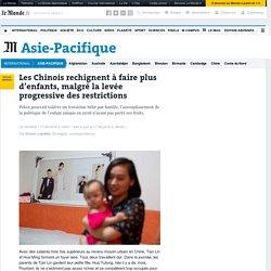 Les Chinois rechignent à faire plus d'enfants, malgré la levée progressive des restrictions