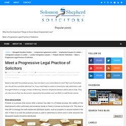 Meet a Progressive Legal Practice of Solicitors - Solomon Shepherd Solicitors