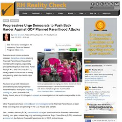Democrats Urged To Fight PP Attacks