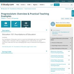 Progressivism: Overview & Practical Teaching Examples